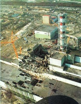 Chernobyl after the explosion