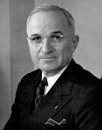 Harry S. Truman. Courtesy of Wikimedia Commons.