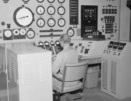 The control room in 1954