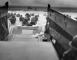 The Allied invasion on D-Day