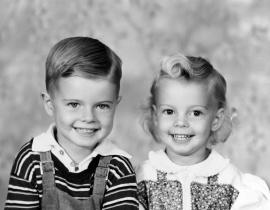 Ludwig and Paula Bruggemann as children. Photo courtesy of Debbie Holm.