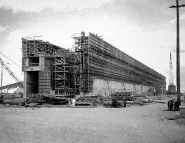 The T Plant at Hanford under construction