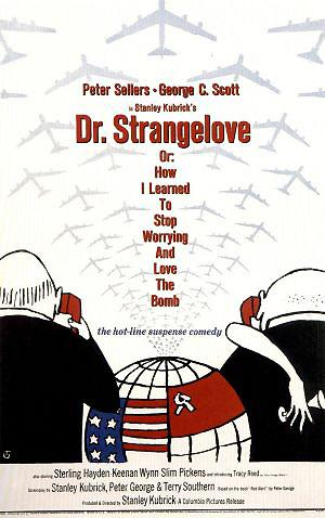 The theatrical release poster for Dr. Strangelove