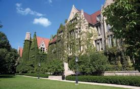 Ryerson and Eckhart Halls at the University of Chicago. Photo courtesy of Britannica.