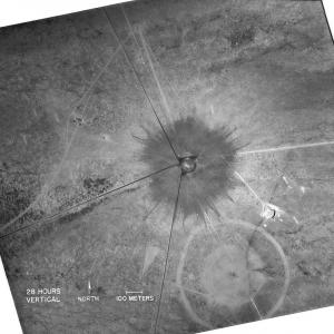 Aerial of the Trinity site crater