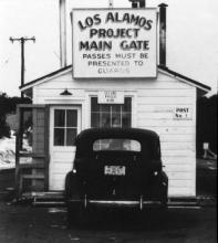 Main gate at Los Alamos.