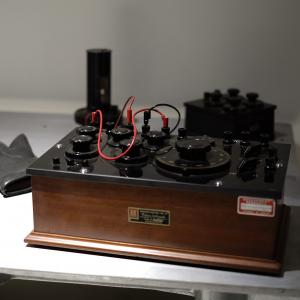 """Part of """"Device for Measuring the Electromagnetic Flux of a Blast Wave"""" by Jim Sanborn"""