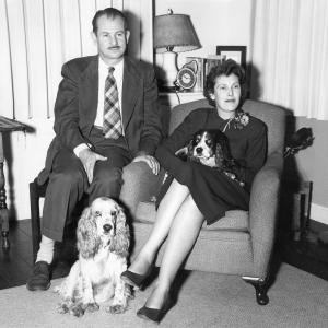 Edwin and Elsie McMillan and their dogs, 1951. Photo courtesy of Ann Chaikin.