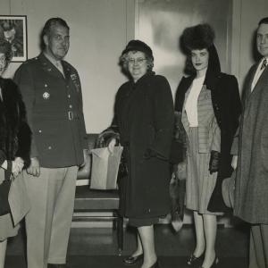General Groves with Patricia Cox Owen and her husband Claude. Photo courtesy of the Patricia Cox Owen Collection.