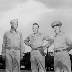 Deak Parsons, William Purnell, and Thomas Farrell on Tinian