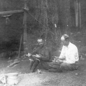 A. J. Connell (left) and Ben White outdoors