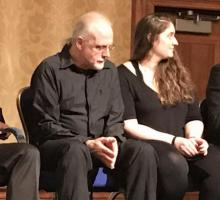 The actors and director of the staged reading with Federation of American Scientists President Charles Ferguson (right).