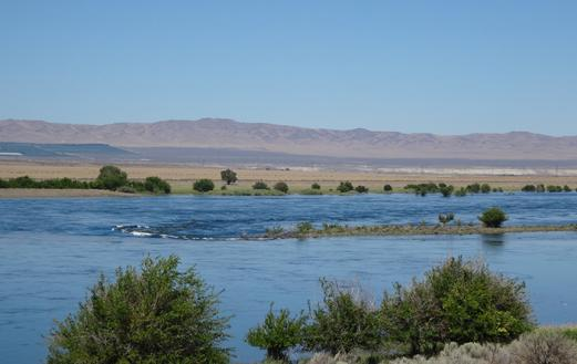 The Hanford Site along the Columbia River today